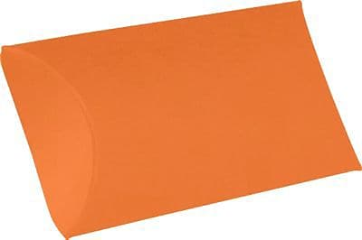 LUX Medium Pillow Boxes (2 1/2 x 7/8 x 4) 1000/Box, Mandarin (LUX-MPB-11-1M)