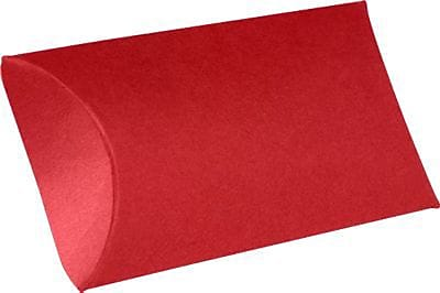 LUX Medium Pillow Boxes (2 1/2 x 7/8 x 4) 1000/Box, Ruby Red (LUX-MPB-18-1M)