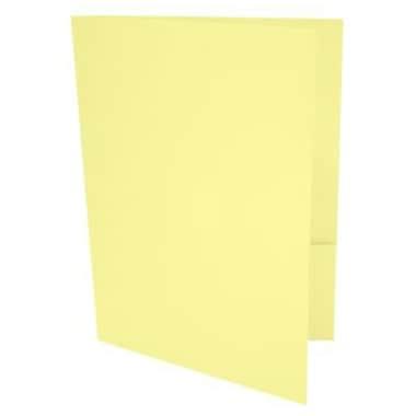 LUX 9 x 12 Presentation Folders 1000/Box, Lemonade (LUX-PF-15-1M)