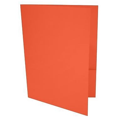 LUX 9 x 12 Presentation Folders 250/Box, Tangerine (LUX-PF-112-250)