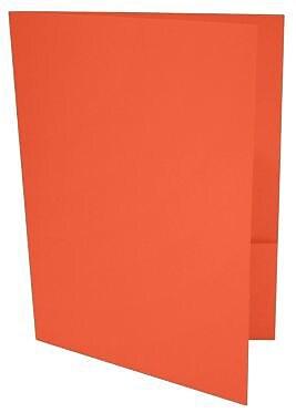 LUX 9 x 12 Presentation Folders, Standard Two Pocket, Tangerine, 250/Pack (LUX-PF-112-250)