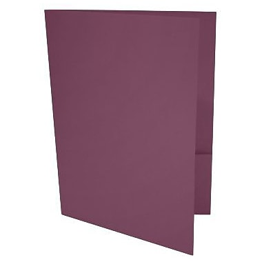 LUX 9 x 12 Presentation Folders 500/Box, Vintage Plum (LUX-PF-104-500)