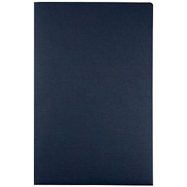 LUX 9 1/2 x 14 1/2 Presentation Folders 500/Box, Dark Blue Linen (LEPF-DBLI-500)