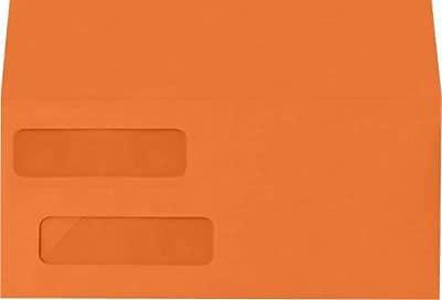 LUX Double Window Invoice Envelopes (4 1/8 x 9 1/8) 250/Box, Mandarin (INVDW-11-250)