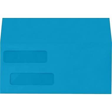 LUX Double Window Invoice Envelopes (4 1/8 x 9 1/8) 1000/Box, Pool (INVDW-102-1M)