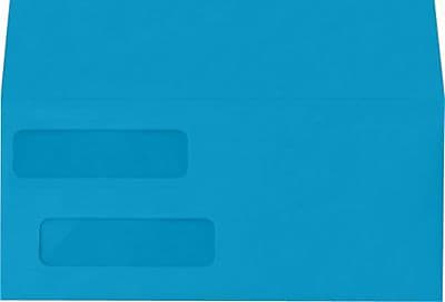 LUX Double Window Invoice Envelopes (4 1/8 x 9 1/8) 1000/Box, Pool (INVDW-102-1M)