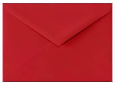 LUX 4 BAR Envelopes (3 5/8 x 5 1/8) 500/Box, Ruby Red (LUX-4BAR-18-500)