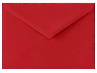 LUX 4 BAR Envelopes (3 5/8 x 5 1/8) 50/Box, Ruby Red (LUX-4BAR-18-50)