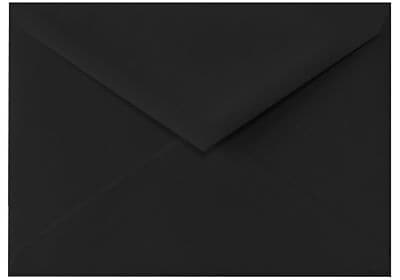LUX 5 1/2 BAR Envelopes (4 3/8 x 5 3/4) 500/Box, Midnight Black (512BAR-B-500)