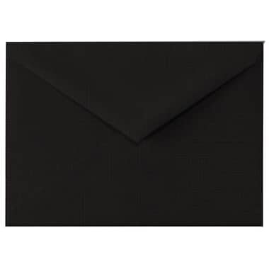 LUX 4 BAR Envelopes (3 5/8 x 5 1/8) 500/Box, Black Linen (4BAR-BLI-500)