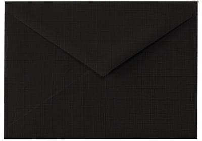 LUX 4 BAR Envelopes (3 5/8 x 5 1/8) 500/Box, Black Linen (4BAR-BLI-500)