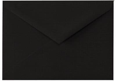 LUX 5 1/2 BAR Envelopes (4 3/8 x 5 3/4) 250/Box, Black Linen (512BAR-BLI-250)