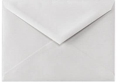 LUX 5 1/2 BAR Envelopes (4 3/8 x 5 3/4) 250/Box, White Linen (512BAR-WLI-250)