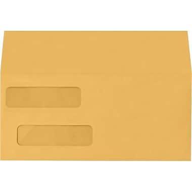 LUX Double Window Invoice Envelopes (4 1/8 x 9 1/8) 1000/Box, 28lb. Brown Kraft (INVDW-28BK-1M)