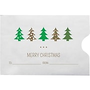 LUX Credit Card Sleeve Envelopes (2 3/8 x 3 1/2) 500/Box, Christmas Trees (1801-H01-500)