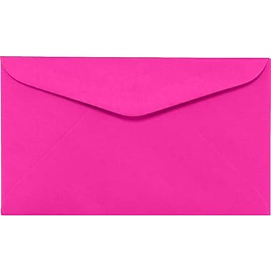 LUX #6 1/4 Regular Envelopes (3 1/2 x 6) 50/Box, Bright Fuchsia (WS-0078-50)