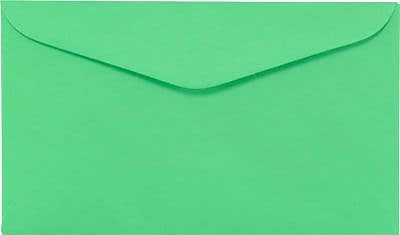 LUX #6 1/4 Regular Envelopes (3 1/2 x 6) 1000/Box, Bright Green (WS-0072-1M)