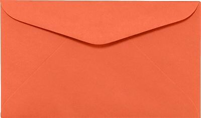 LUX #6 1/4 Regular Envelopes (3 1/2 x 6) 50/Box, Bright Orange (WS-0067-50)