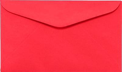 LUX #6 1/4 Regular Envelopes (3 1/2 x 6) 250/Box, Electric Cherry (WS-0076-250)