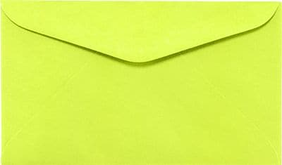 LUX #6 1/4 Regular Envelopes (3 1/2 x 6) 250/Box, Electric Green (WS-0071-250)