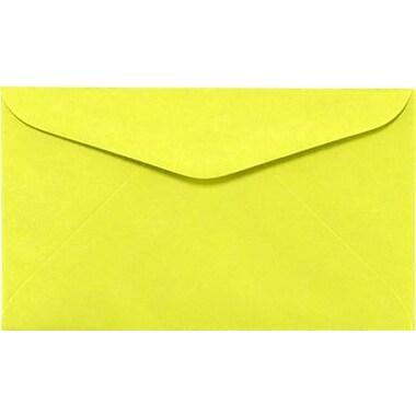 LUX #6 1/4 Regular Envelopes (3 1/2 x 6) 250/Box, Electric Yellow (WS-0074-250)