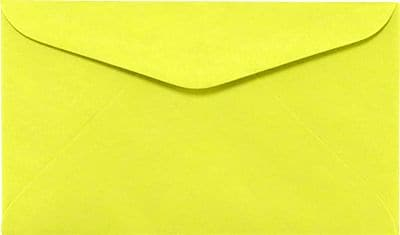 LUX #6 1/4 Regular Envelopes (3 1/2 x 6) 250/Box, Electric Yellow (WS-0074-250)