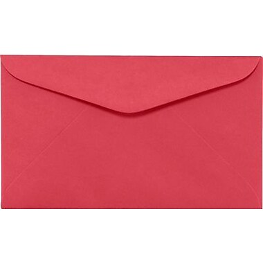 LUX #6 1/4 Regular Envelopes (3 1/2 x 6) 500/Box, Holiday Red (WS-0069-500)