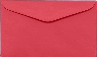 LUX #6 1/4 Regular Envelopes (3 1/2 x 6) 50/Box, Holiday Red (WS-0069-50)