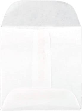 LUX Lens Envelope (2 1/4 x 2 1/4) 50/Box, 20lb. White (WS-3720-50)