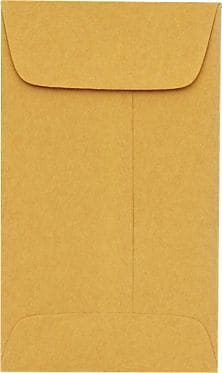 LUX #5 1/2 Coin Envelopes (3 1/8 x 5 1/2) 250/Box, 28lb. Brown Kraft (512CO-28BK-250)