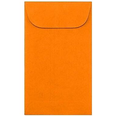 LUX #5 1/2 Coin Envelopes (3 1/8 x 5 1/2) 250/Box, Bright Orange (512CO-BO-250)