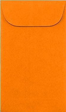 LUX #5 1/2 Coin Envelopes (3 1/8 x 5 1/2) 250/Box, Bright Orange (512CO-BO-250)