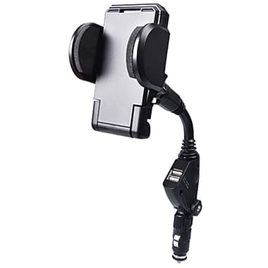 PurTek 210Z 2-in-1 Car Lighter Cradle Mount and Charger with Dual Charging USB Ports
