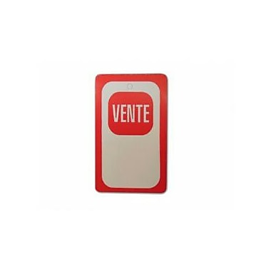 Displetech Printed Red ''Vente'' Tag, 1-3/4''x3'', White, 1000/Pack (7910039)