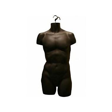 Displetech – Mannequin en plastique homme, noir, 6/paquet (7600127)