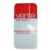 Displetech ''Vente'' Tag Without Slit, 2-1/2''x5'', White Printed Red, 1000/Pack