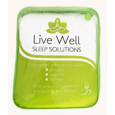 Live Well Allergy Protection Mattress Pads, Double (105)