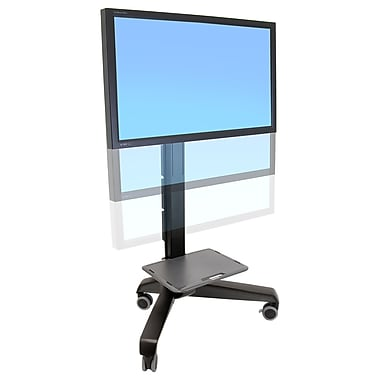 Ergotron Neo-Flex Display Stand, 1 Shelf, Plastic, Black, (24-192-085)