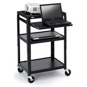 Bretford Adjustable 2-Shelf Projector Cart, Black (A2642NS)