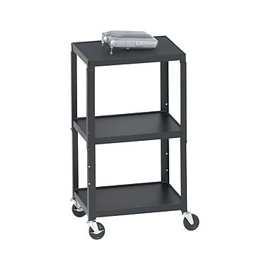 Bretford Height Adjustable A/V Cart , Black, (A2642)