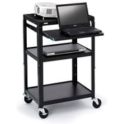 Bretford Projector Stand, 3 Shelves, Steel, Black, (A2642NS-P5)