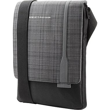 HP – Bandoulière pour tablette ultramince, noir avec motif écossais gris, (F7Z97AA)