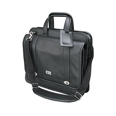 Tripp Lite Executive Notebook Case, Leather, Black, (NB1004BK)