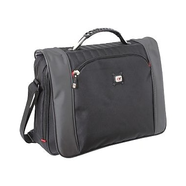 Gino Ferrari Minos Notebook Case, Nylon & Polyester, Black & Gray, (GF520)