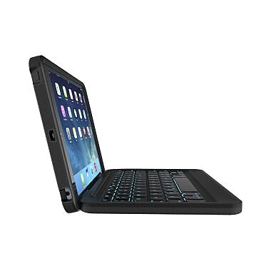 ZAGG Rugged Folio Durable Magnetic-Hinged Keyboard & Case for Apple iPad Air, Polycarbonate & Silicone, Black, (ID5RGK-BB0)