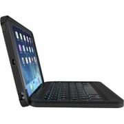 ZAGG – Étui folio/clavier robuste avec charnières magnétiques pr iPad Air d'Apple, polycarbonate et silicone, noir (ID5RGK-BB0)