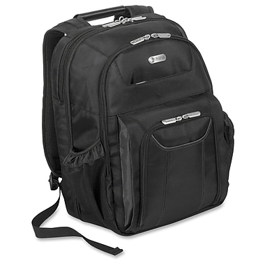 Targus – Sac à dos pour ordinateur portatif Zip-Thru Targus Corporate Traveler, noir (TBB012US)