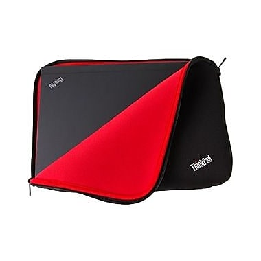Lenovo ThinkPad 12 Fitted Reversible Sleeve, Neoprene, Black & Red, (4X40E48909)