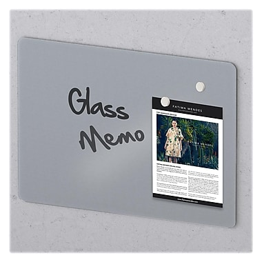 MasterVision Magnetic Tempered Glass Dry Erase Board, Frameless, 48