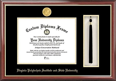 Campus Images NCAA Virginia Tech Tassel Box and Diploma Picture Frame